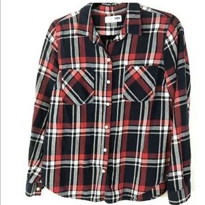 Old Navy Medium Classic Flannel Red Long Sleeve